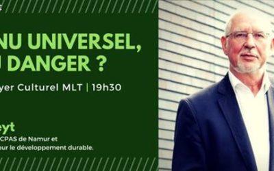 """[Activité : Conférence – Débat] 4 Mai 2017 : """"Le revenu universel, rêve ou danger ?"""" avec Philippe Defeyt"""