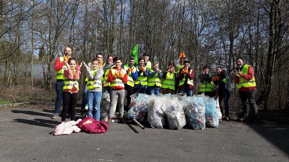 Ce samedi, des citoyens et des membres de la locale de Montigny/Landelies ont participé au « Grand nettoyage de printemps » – Wallonie plus propre –