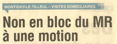 [Presse] Nouvelle Gazette – 17 Mars 2018 : Non en bloc du MR à une Motion