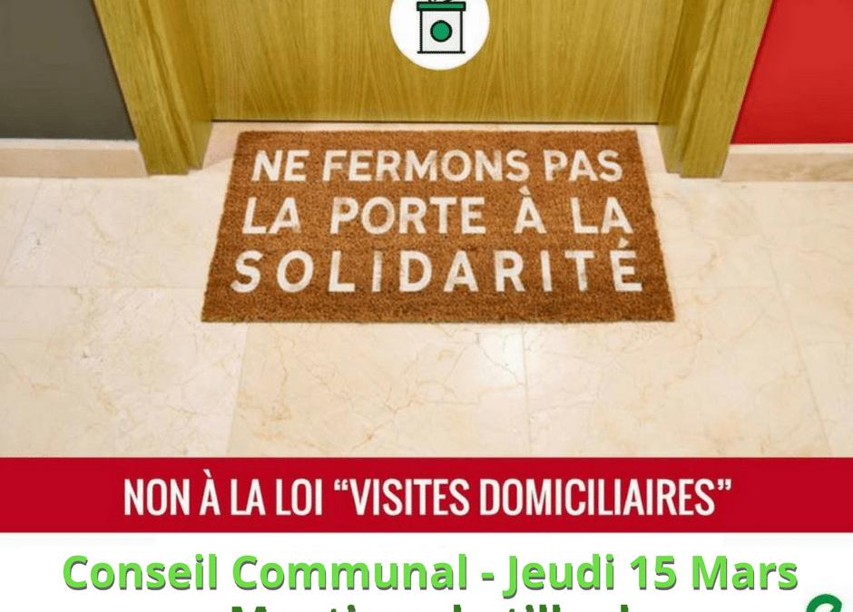 Montigny-le-Tilleul : le 15 mars, vote d'une motion contre les visites domiciliaires