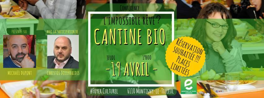 Jeudi 19 Avril : Cantine Bio – l'alimentation, vecteur de bien-être